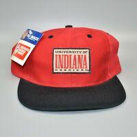 Indiana Hoosiers NCAA Vintage 90's Nu Image Adjustable Snapback Cap Hat - NWT