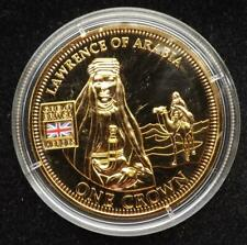 2010 One Crown Gold Plated Commemorative Coin - Lawrence Of Arabia