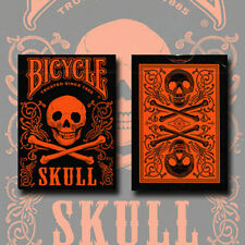 Brand New Cards - Bicycle Skull Metallic (Orange) Uspcc by Gambler's Warehouse
