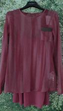 GUESS Los Angeles Damen Blusen Shirt Longshirt XS  34 36 Polyester Himbeere