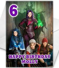 DESCENDANTS Personalised Birthday Card - Disney Descendants Christmas Card