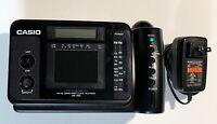 RARE VINTAGE CASIO AV-100 FREEDOM VISION LCD COLOR TV CLOCK RADIO AM FM.