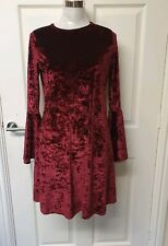 BNWT Ladies Womens Velvet Flare Dress Size 14