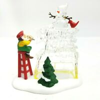 Department 56 Heritage Christmas Village A Busy Elf 56366 Santa Mrs Claus Ice
