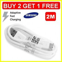 Fast Charger 2M USB Data Sync & Cable Lead for Samsung Galaxy S5 S6 S7 & Edge