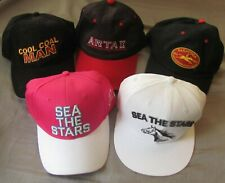 LOT OF 5 BALL CAPS 2 SEA THE STARS,COOL COAL MAN, ARTAX, SARATOGA 150TH