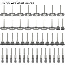 Stainless Steel Wire Wheel Brush Accessories For Dremel Rotary Tools Pack Of 45X