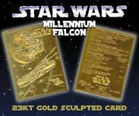 Star Wars MILLENNIUM FALCON 23KT Gold Card Limited Edition #/10,000 * BOGO *
