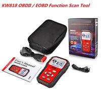KW 818 Car Scanner Tool EOBD Obd2 OBDII Diagnostic Engine Fault Code Reader Scan