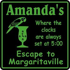 Personalized Name Margaritaville 5 0'clock Somewhere Tropical Bar Sign 1