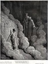 PURGATORIO: IRACONDI: MARCO LOMBARDO. Gutave Doré. Dante. Divina Commedia.1880
