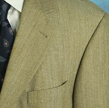 Hugo Boss 42R Saks 5th Ave EINSTEIN Blazer Tan Woven Wool Silk Jacket Sport Coat