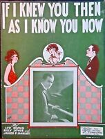 AL MITCHELL Vintage Sheet Music IF I KNEW YOU THEN AS I KNOW YOU NOW Art Deco