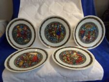 Set of 5 Noel Vitrail By Limoges Collectible Plates Nativity Scenes Christmas