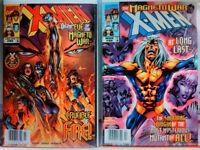 X-MEN (1991) #85 + #86 NEWSSTAND VARIANT SET vf+ MARVEL COMICS Magneto WOLVERINE