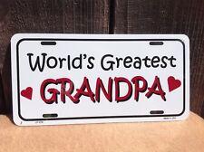 Worlds Greatest Grandpa Wholesale Novelty License Plate Bar Wall Decor