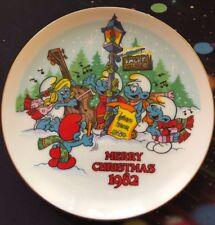 "1982 ""The Smurf Carolers"" Smurf Christmas Collectible Wall Hanging Plate"