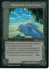 MIDDLE EARTH THE DRAGONS RARE CARD PARSIMONY OF SECLUSION