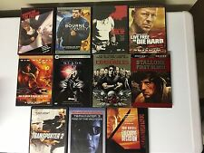 Lot Of 11 Action Hero DVDs! Arnold Stallone Willis Snipes Diesel MORE Free Ship!
