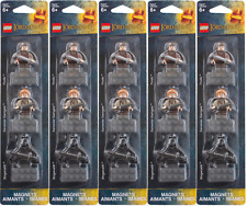 (5) Lego Lord Of The Rings Magnets Minifigures Frodo Samwise Gamgee Ringwraith