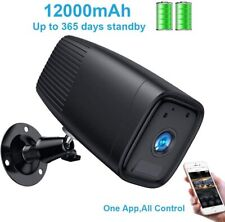 Smart Wireless Rechargeable Battery Camera,1080P Home Security Camera BLACK