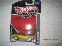 hot wheels garage 67 camaro yellow w/real riders NIP