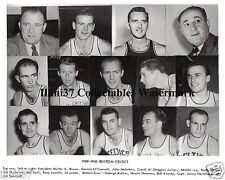 1949-50 BOSTON CELTICS NBA BASKETBALL 8X10 TEAM PHOTO