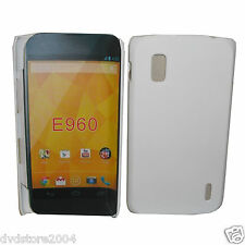Pellicola + Custodia BACK BIANCA Cover Case per LG Nexus 4 E960 Hard Rigida