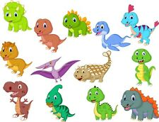 Dinosaur Animals Bedroom wall / toy box stickers Vinyl Baby Nursery Childrens