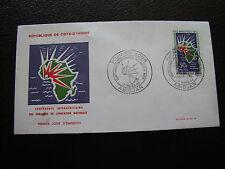 COTE D IVOIRE - enveloppe 1er jour 17/3/1964 (cy77)