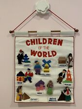 Vintage'80sPockets Of Learning Handcrafted Educational Diverse Wall Hanging Toy