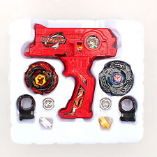 Red Beyblade Metal Masters Fusion Rotate Spin Rip cord Launcher Toys Battle Set