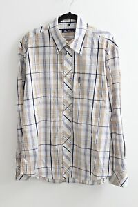 BEN SHERMAN MENS BUTTON DOWN LONG SLEEVED CHECK SHIRT SIZE LARGE