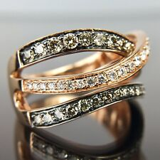 Le Vian 14k Rose Gold Diamond Crossover Ring Band