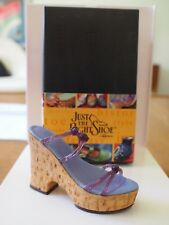 Mib Just The Right Shoe Raine Cork Wedge #25093 Retired Miniature Collectible