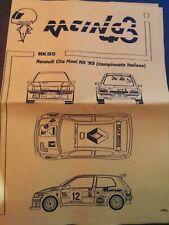 DECALS RACING43 1/43 - RD95 Renault Clio Maxi kit Ciocco 1995 Medeghini