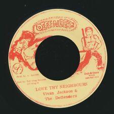 "NEW 7"" Vivian Jackson & The Defenders (Yabby U) - Love Thy Neighbours  /  Versio"