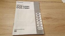 Originale Pioneer Bedienungsanleitung  für DVR-520 DVR-720   12 Monate Garantie*