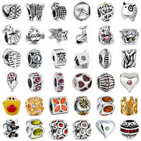925 European Sterling Charm Silver Beads for Lot Charms Bracelet Necklace au13