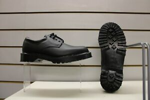 Men's Dr Martens Black Leather Laced Shoes UK Size 7.5 Made In England