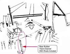 Superbee GTX Roadrunner Charger Coronet 2 door Hardtop Door Glass Window Channel