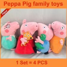 Peppa Pig Peppa & Full Family George Dad & Mum 25cm Plush & Soft toys (Set of 4)