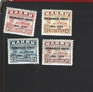 Nauru sc#31-4 (1935) Complete MLH