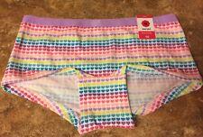 Girls Total Girl Heart Print Multi-Color Boyshort Panties    ~Size 7/8~   NWT