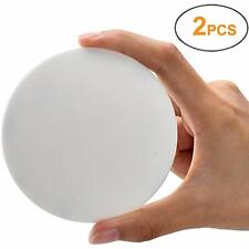 Door Knob Wall Shield, White Round Soft Rubber Protector Self Adhesive Handle 2