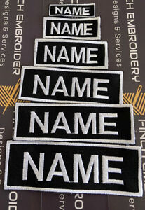 Custom Personalised Morale Patch Name Tape Official VELCRO® Backing Cordura