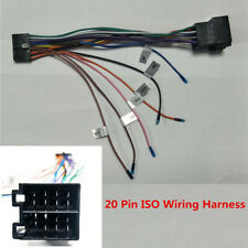 Car DVD Stereo Navigation Dash Kit 20 Pin ISO Wiring Harness Connector Adapter