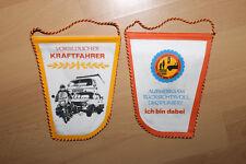 1  Wimpel - DDR - VORBILDLICHER KRAFTFAHRER - MZ - W353 - W50 - VOPO