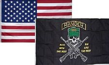 3' X 5' 3x5 Ranger Mess with Best Flag + Usa American Flag Flags Wholesale Lot
