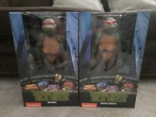 NECA Teenage Mutant Ninja Turtles 1/4 Scale Raphael & Michelangelo NEW FRESH